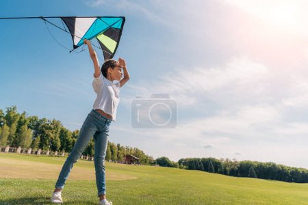 Little girl with kite