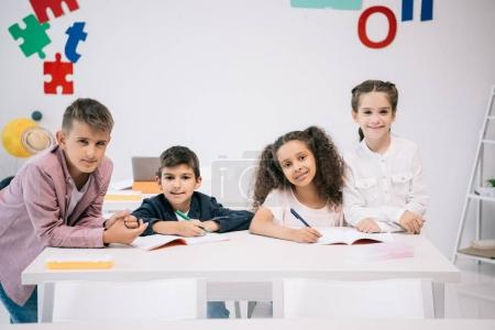multiethnic pupils at school