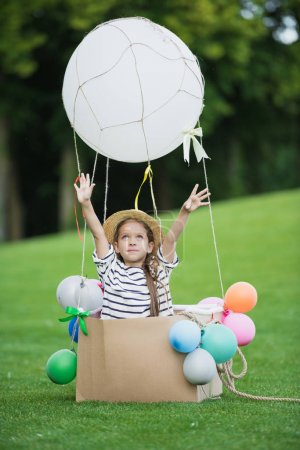 Girl in hot air balloon
