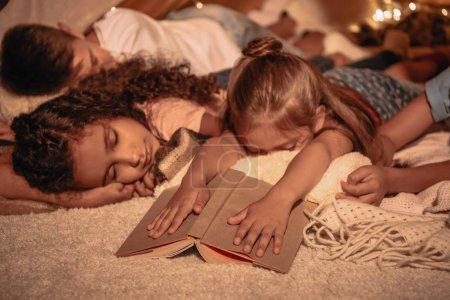 Children sleeping at home