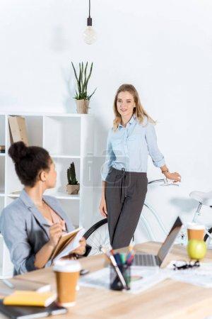 multiethnic businesswomen at office