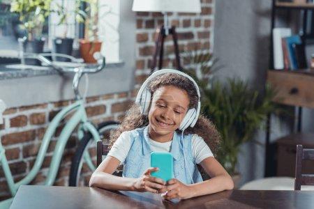 african american girl listening music