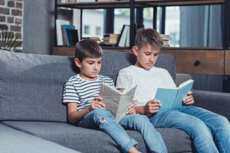 little boys reading books