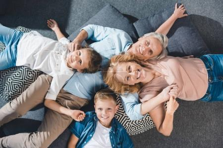 happy grandparents and grandchildren