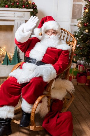 santa claus in rolling chair