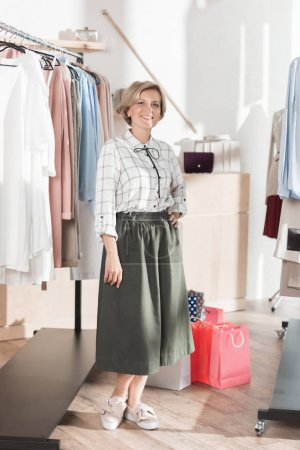 Woman on shopping in boutique