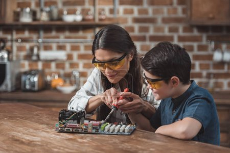 Mother and son soldering mothernoard