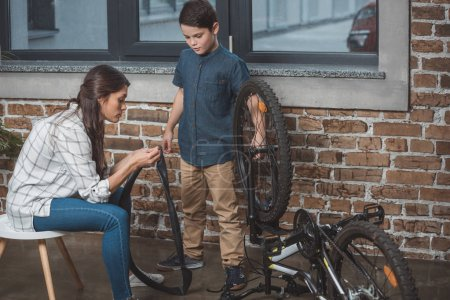 Family fixing bicycle