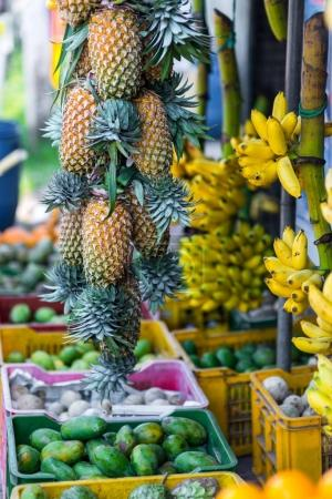 tropical fruits on market