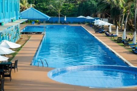 swimming pool of hotel