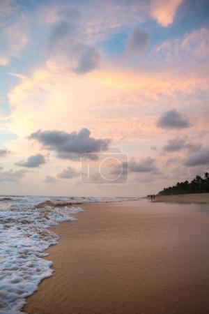 sunset over tropical beach