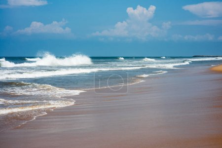 Photo for Beautiful wavy ocean on sunny day - Royalty Free Image
