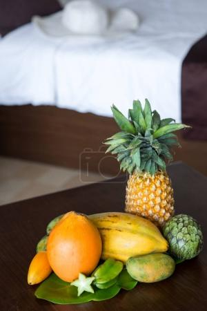 tropical fruits composition