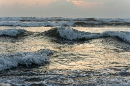 Photo for Beautiful wavy sea on summer evening - Royalty Free Image