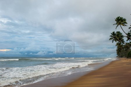 seascape on stormy day