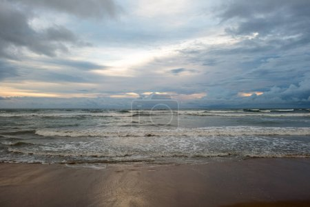 Photo for Beautiful seascape on cloudy evening at tropical beach - Royalty Free Image