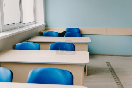 Photo for Interior of empty classroom at modern school - Royalty Free Image