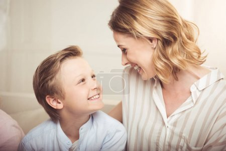 Happy mother with son