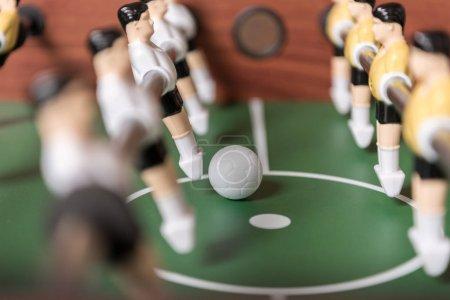 Foto de Vista de primer plano de futbolín, enfoque selectivo - Imagen libre de derechos