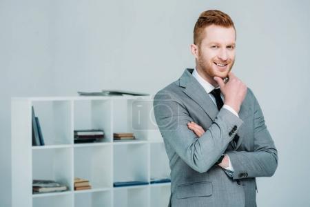 handsome businessman in suit