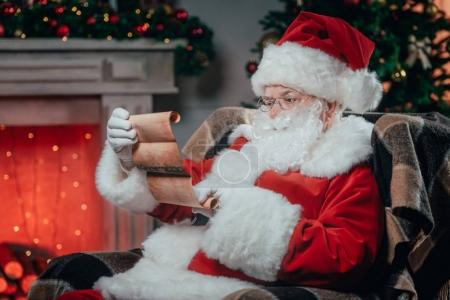 santa claus holding list