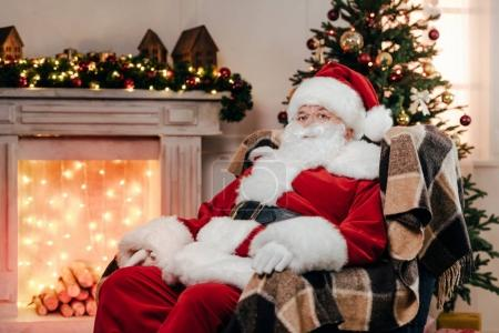 santa claus in traditional costume