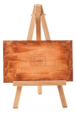 Small easel with blank paper