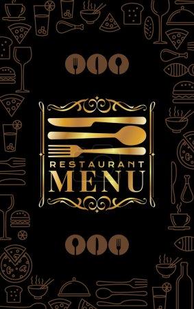 Illustration pour Modèle de carte de menu de restaurant vectoriel créatif - image libre de droit