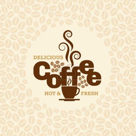 Illustration pour Modèle de conception de café, vecteur créatif pour café et restaurant - image libre de droit