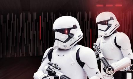 Photo for Salt Lake City, Utah, USA - Feb. 13, 2017 Two individuals dressed up in Star Wars Storm Trooper costumes at a Star Wars entertainment vent - Royalty Free Image