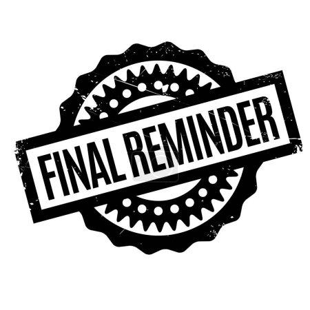 Final Reminder rubber stamp