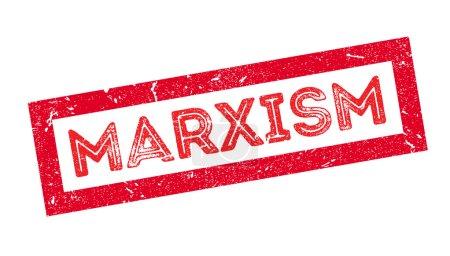 Illustration pour Marxisme tampon caoutchouc sur blanc. Imprimer, impressionner, surimprimer . - image libre de droit