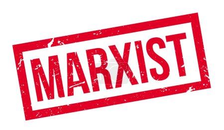 Illustration pour Timbre marxiste en caoutchouc sur blanc. Imprimer, impressionner, surimprimer . - image libre de droit