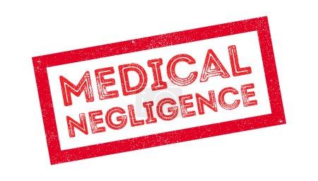 Illustration pour Négligence médicale tampon sur blanc. Imprimer, impressionner, surimpression. - image libre de droit