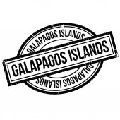 Galapagos Islands rubber stamp Grunge design with dust scratches Effects can be easily removed for a clean crisp look Color is easily changed