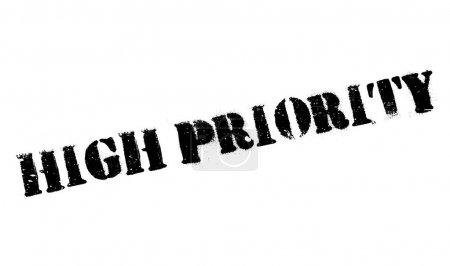 High priority stamp. Grunge design with dust scrat...