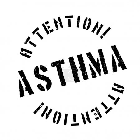 Asthma rubber stamp