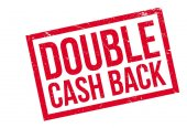 Double Cash Back rubber stamp
