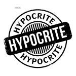 Hypocrite rubber stamp. Grunge design with dust sc...