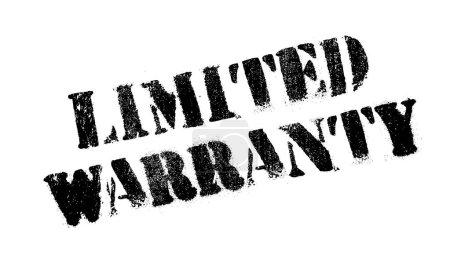 Limited Warranty rubber stamp. Grunge design with ...