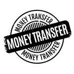 Постер, плакат: Money Transfer rubber stamp