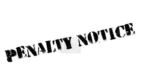 Penalty Notice rubber stamp. Grunge design with du...