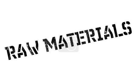 Illustration pour Matières premières tampon caoutchouc. Conception grunge avec des rayures de poussière. Les effets peuvent être facilement enlevés pour un look propre et net. Couleur est facilement changée . - image libre de droit