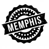 Memphis stamp Grunge design with dust scratches Effects can be easily removed for a clean crisp look Color is easily changed