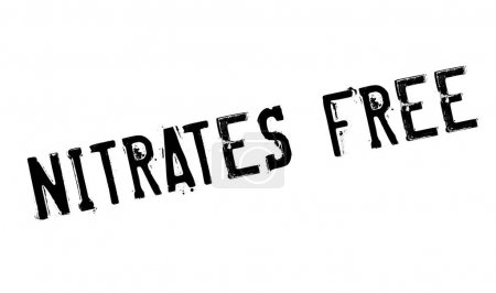 Nitrates Free rubber stamp. Grunge design with dus...