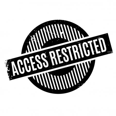 Access Restricted rubber stamp. Grunge design with...