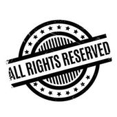All Rights Reserved rubber stamp