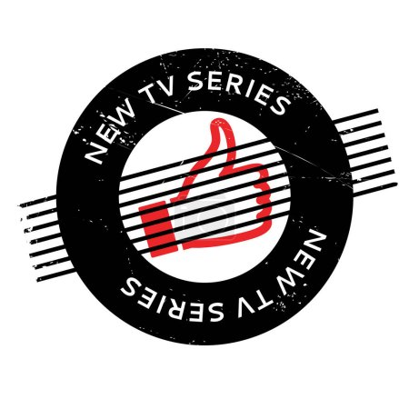 New Tv Series rubber stamp. Grunge design with dus...