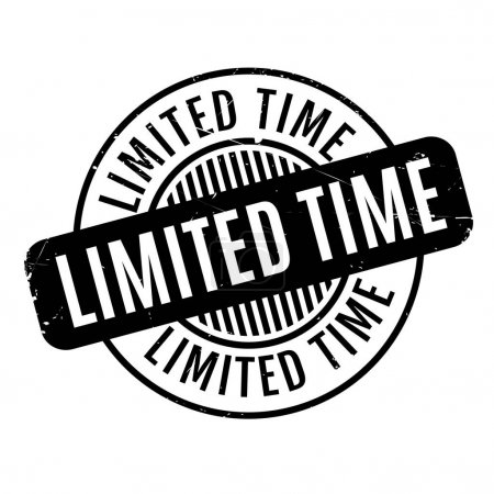 Limited Time rubber stamp. Grunge design with dust...