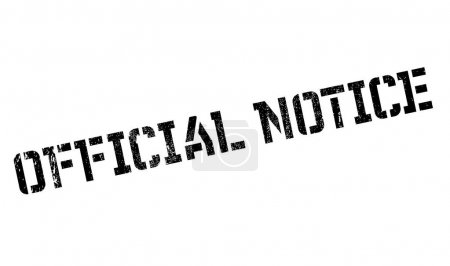 Official Notice rubber stamp